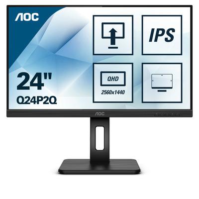 """AOC Q24P2Q 23.8"""" Monitor - Zwart"""