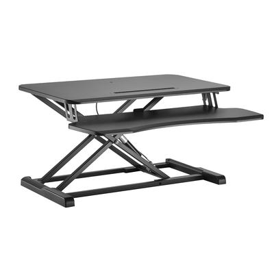 Equip Ergonomic Sit/Stand Riser Monitorarm - Zwart