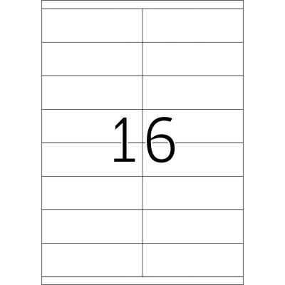 Herma etiket: Labels white 105x35 SuperPrint 1600 pcs. - Wit