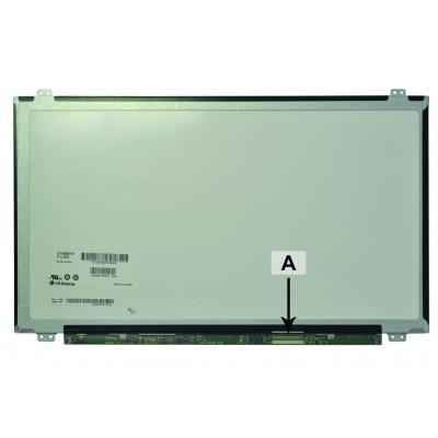 "2-power notebook reserve-onderdeel: 39.624 cm (15.6 "") 1920x1080 FullHD LED Glossy - Zwart, Blauw"