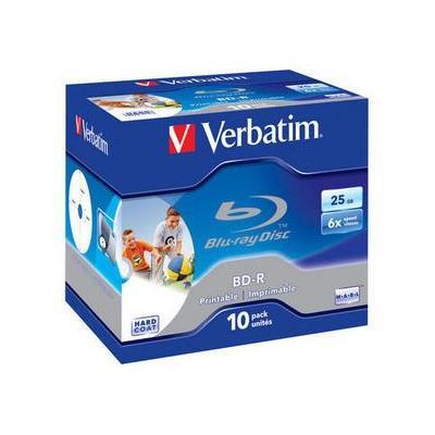 Verbatim BD: BD-R SL 25GB 6x Printable 10pk