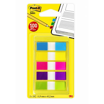 Post-it indextab: Index Smal - Draagbare Set - Multi kleuren
