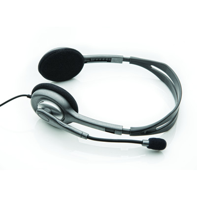 Logitech H110 Headset - Zwart, Zilver