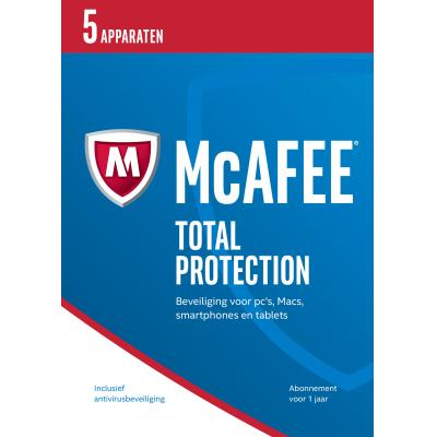 Mcafee software: Total Protection 2017, 5 Devices (Dutch)