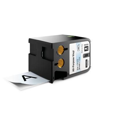 "Dymo labelprinter tape: XTL 2"" (54 mm) universeel vinyl, zwart op transparant"
