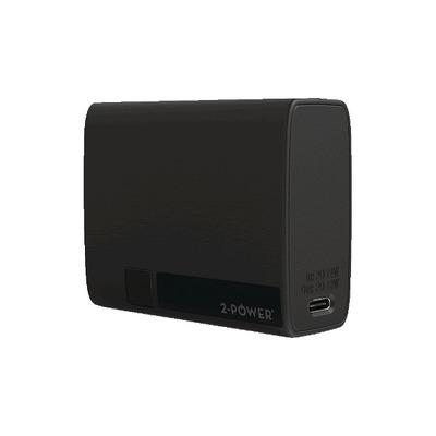 2-Power NanoWave 5 10000mAh USB-C & A Power Bank Powerbank - Zwart
