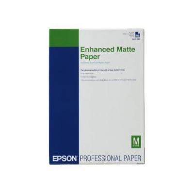 Epson grootformaat media: Enhanced Matte Paper, DIN A3+, 192g/m², 100 Vel