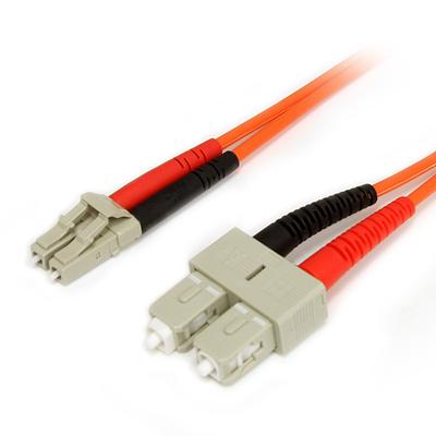StarTech.com 2m Multimode 62,5/125 Duplex Glasvezel Netwerkkabel LC-SC Fiber optic kabel