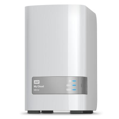Western digital : My Cloud Mirror 3.5 Inch 2 bay My Cloud NAS, mirror, 8TB, Wit