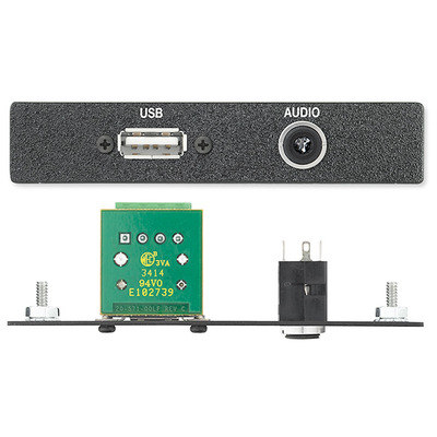 Extron One USB to 4-pin Captive Screw Terminal Connector, One 3.5 mm Stereo Mini Wandcontactdoos