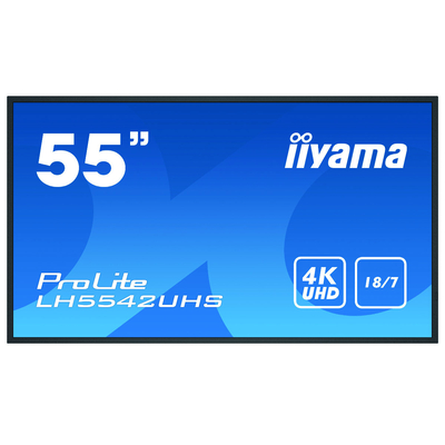 """Iiyama 54.6"""", 3840x2160, 16:9, IPS, 9 ms, VGA, HDMI, DVI, RS-232C, RJ-45, IR, S/PDIF, USB, Android OS 8.0, ....."""