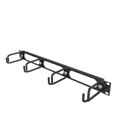 Vertiv 1U Horizontal Cable Organizer with Metal D Rings Rack toebehoren - Zwart