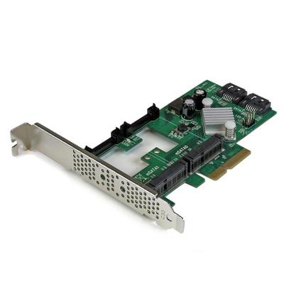 StarTech.com 2-poorts PCI Express 2.0 SATA III 6 Gbpskaart met 2 mSATA-sleuven en HyperDuo SSD Tiering Raid .....