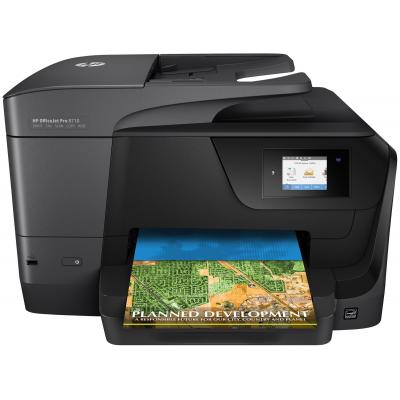 Hp multifunctional: OfficeJet 8710 AiO - Zwart, Cyaan, Magenta, Geel