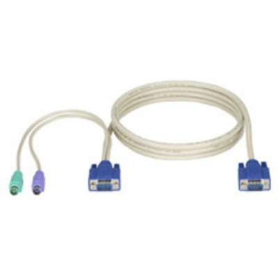 Black Box ServSwitch CPU Cable for EC Series and DT Low Profile Series, PS/2, 10ft (3.0m) KVM kabel