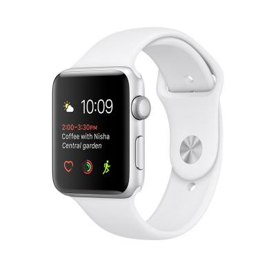Apple smartwatch: Watch Series 2 Silver Aluminium 42mm (Approved Selection Standard Refurbished)