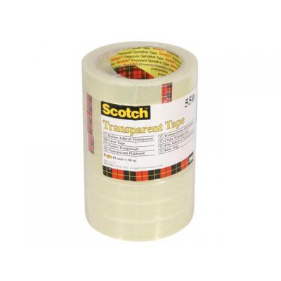 Scotch Plakband 550 19mmx66m tr/pak 8rol Transparante tape