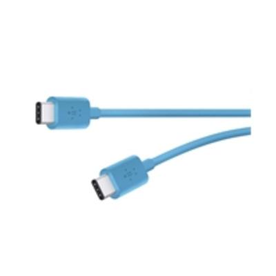 Belkin 6ft, 2xUSB2.0-C USB kabel - Blauw