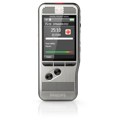 Philips DPM6000 voice recorder - Zwart, Zilver
