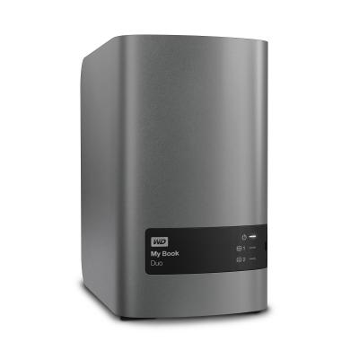 Western digital externe harde schijf: My Book Duo 3.5 Inch 2 bay externe HDD 16TB - Zilver