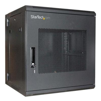 Startech.com rack: 12U 19in Hinged Wall Mount Server Rack Cabinet w/ Steel Mesh Door - Zwart
