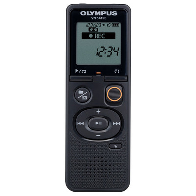 Olympus voice recorder: VN-541PC + TP8 - Zwart