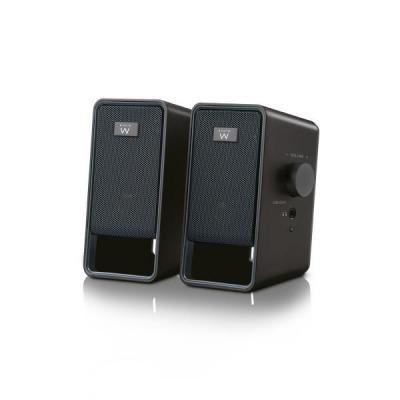 Ewent Speaker: Stereo Speakers 2.0, 6W, 3.5mm - Zwart