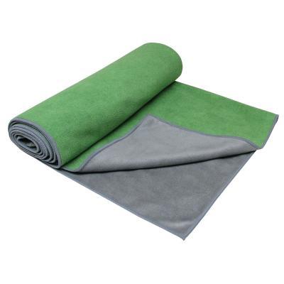 Gaiam haddoek: Grippy Yoga Handdoek - Groen / Grijs