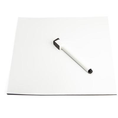 StarTech.com Magneet mat 24 cm x 27 cm Magnetisch bord - Zwart,Wit
