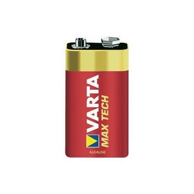 Varta batterij: MAX TECH  Alkaline 9V - Goud, Rood
