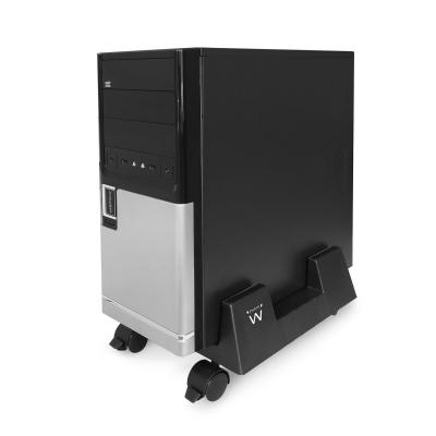 Ewent cpu steun: Adjustable CPU Stand on Wheels - Zwart