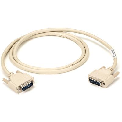 Black Box DB15/DB15, 3-m Seriele kabel - Beige