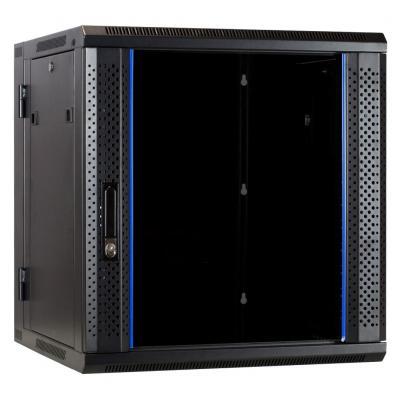 DS-IT 12U wandkast (kantelbaar) met glazen deur 600x600x635mm Rack