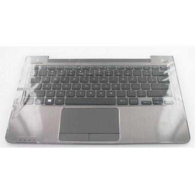 Samsung notebook reserve-onderdeel: Top Case, Grey With Keyboard - Zwart, Grijs