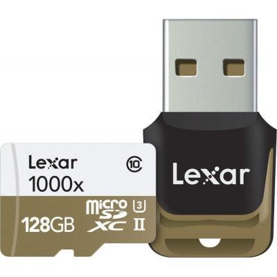 Lexar flashgeheugen: 128GB microSDHC UHS-II - Zwart, Bruin