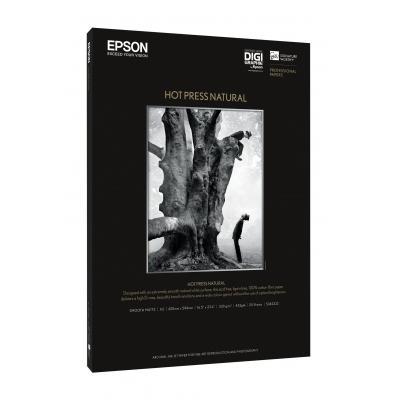 Epson fotopapier: Hot Press Natural A3+