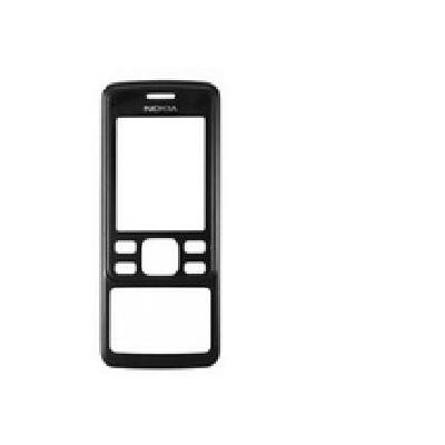Microspareparts mobile telefoon cover: Nokia 6300 Front Cover, Black - Zwart