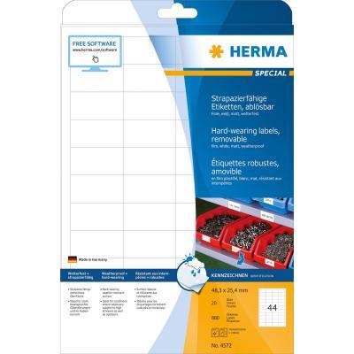 Herma etiket: A4, 48.3 x 25.4mm - Wit