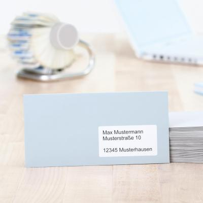 Herma adreslabel: Adress labels A4 99.1x33.8 mm natural-white recycled paper matt blue angel 1600 pcs. - Wit