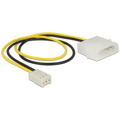 DeLOCK Power Cable 2 pin male > 3 pin female (fan) 30 cm - Zwart,Geel