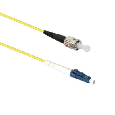 EECONN Glasvezel Patchkabel, 9/125 (OS1), LC - ST, Simplex, 15m Fiber optic kabel - Geel