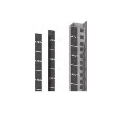 Retex U's numbered strip Rack toebehoren - Zwart