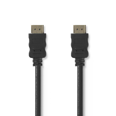 Nedis High Speed HDMI Cable with Ethernet, HDMI Connector - HDMI Connector, 1.0 m, Black HDMI kabel - Zwart