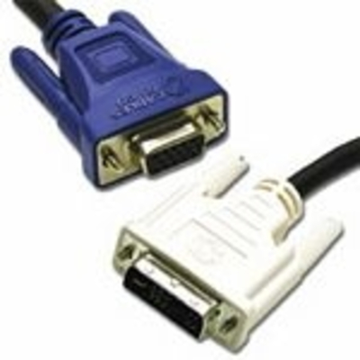 C2G 2m DVI-A Male to HD15 VGA Female Analogue Extension Cable - Zwart