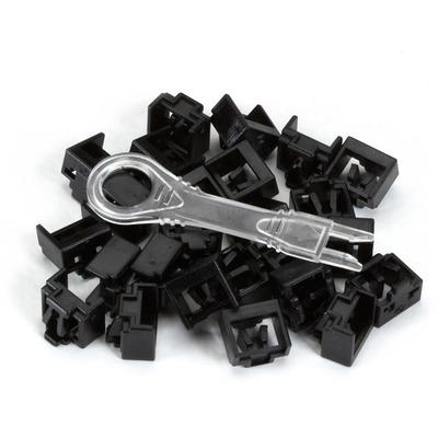 Black Box LockPORT Secure Port Locks, Black, 25-Pack, Black Patch panel accessoire - Zwart