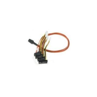 Microconnect kabel: SAS 36-pin - 4x SAS 29-pin power, 0.5m - Multi kleuren