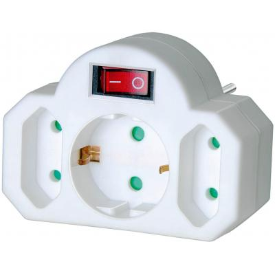 Brennenstuhl surge protector: Adapter with ON/OFF switch and 2 + 1 sockets