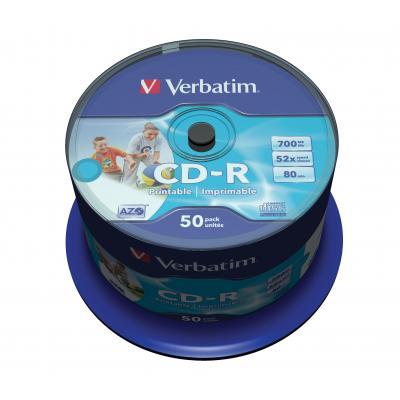 Verbatim CD: CD-R AZO Wide Inkjet Printable - ID Branded