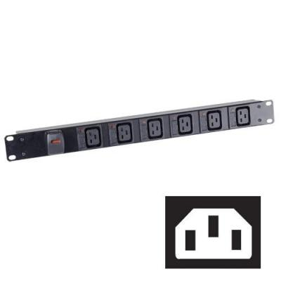 Black Box Individually Fused C19 Power Strips Energiedistributie - Zwart