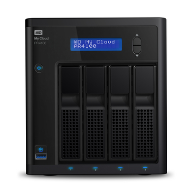 Western Digital My Cloud PR4100 3.5 Inch 4 bay My Cloud Pro series, 0TB, Zwart NAS